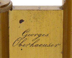 Georges Oberhaeuser Paris, No. 1336, Signatur