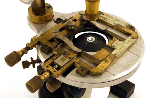 Museum optischer instrumente: carl zeiss jena mikroskop aus aluminium